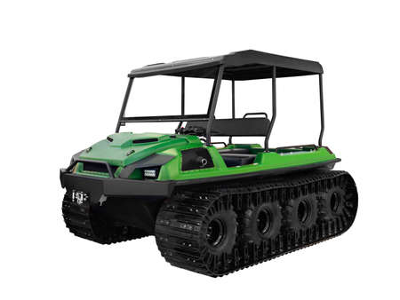 all-terrain vehicle for hunters and fishermen and for checking the main gas pipelines of oil pipelines and high-voltage electric lines in hard-to-reach places