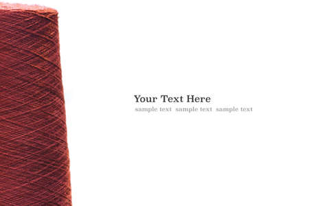 Red violet reels of threads. web banner template background with copy space