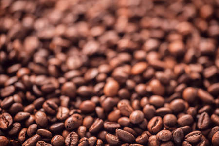 Roasted coffee beans texture background 免版税图像