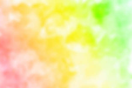 Abstract pink blue red yellow green violet purple watercolor on white background.The color splashing in the paper.It is a hand drawn. Blurred