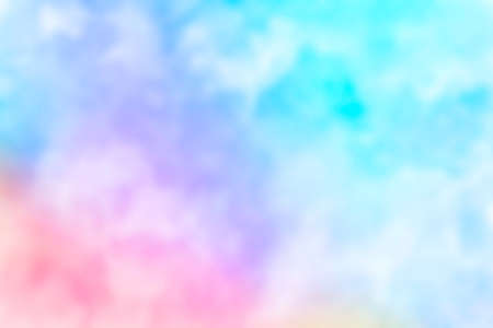 Abstract pink blue red yellow green violet orange purple watercolor on white background.The color splashing in the paper.It is a hand drawn. Blurred
