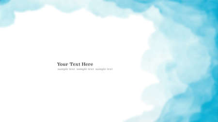 Watercolor blue blurred background texture with space for text web banner