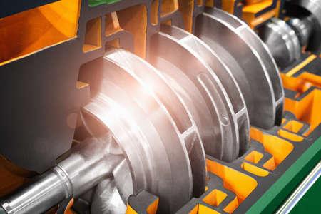 Pompa preparata ad alta pressione multistadio per il pompaggio di acqua, carburante, olio e olio o prodotti chimici, dettagli in primo piano