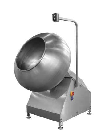 Machine industrielle de briseur de mélangeur de l'industrie alimentaire, de l'industrie chimique ou pharmaceutique d'isolement sur le fond blanc Banque d'images