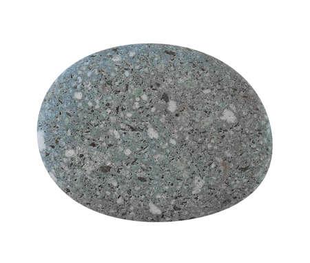 Grey blue stone pebbles, isolated on white background