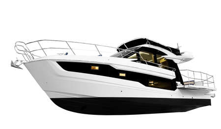 The image of an passenger motor boat