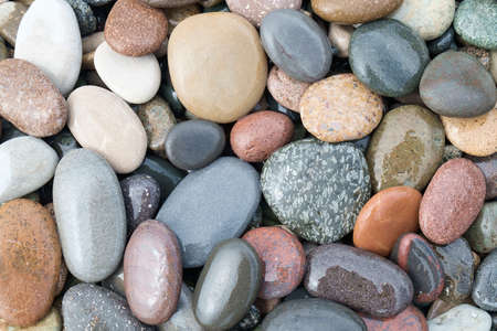 abstract background with wet round multi-colored reeble stones Stockfoto