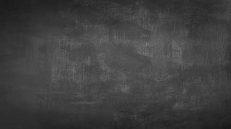 Blank front Real black chalkboard background texture in college concept for back to school kid wallpaper for create white chalk text draw graphic. Empty old back wall education Imagens