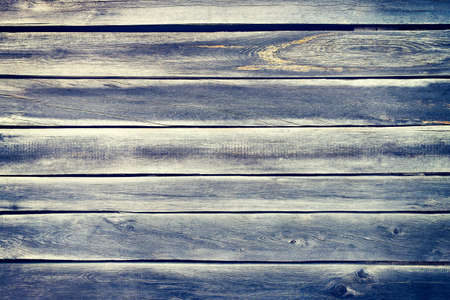 Blue gray wood plank texture surface as background Imagens