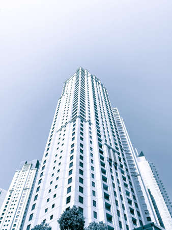 Modern office buildings in the financial district. Financial development business concept. 免版税图像