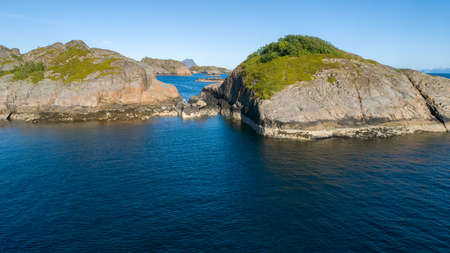 Travel concept with scenic sea and islands of Norway Stock fotó - 161398430