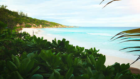 Tropical sea beach background as summer landscape with beach, vacation travel concept Stock fotó - 161566023