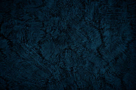 Beautiful Abstract Grunge Decorative Navy Blue Dark Stucco Wall Background. Art Rough Stylized Texture Banner With Space For Text Stock fotó