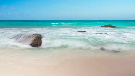 Vacation travel concept with tropical sea beach landscape Stock fotó