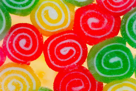 Close-up of colorful candy abstract background