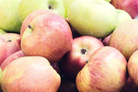Apples, harvest, fresh fruit, close-up Stock fotó