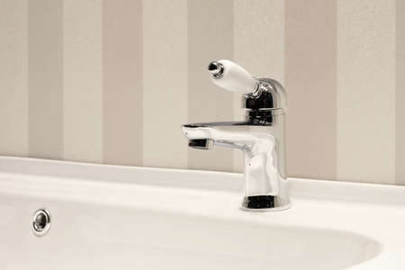 Retro classic bathroom interior, clean bright stylish designer modern bathroom Stock fotó