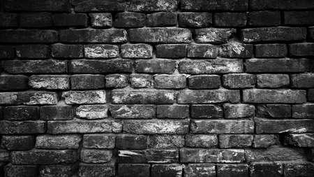 Brick black wall background or texture Stockfoto