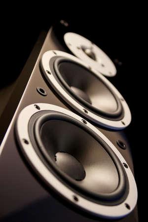 loud speakers: Black high gloss audio speakers