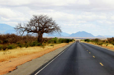 African road from Mombasa to Nairobi, Kenya photo
