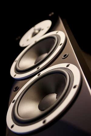 Black high gloss music speakers  Reklamní fotografie