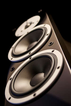 Black high gloss music speakers  photo