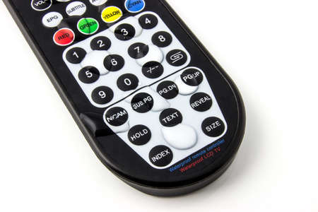 remote controls: Waterproof TV remote control isolated on white background