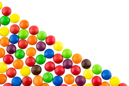 Multicolored candies background photo