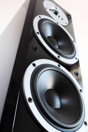 블랙 고광택 오디오 스피커 스톡 콘텐츠
