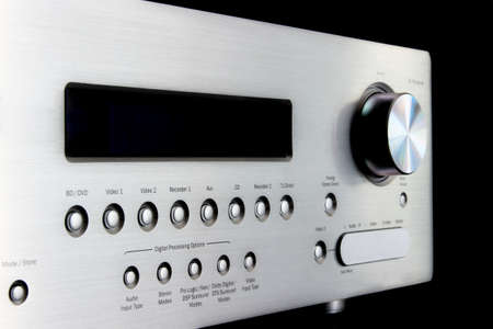 오디오 - 비디오 수신기의 전면 패널 스톡 콘텐츠