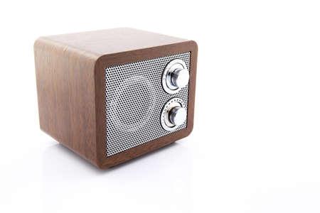 Retro style mini radio player isolated on white background Stock Photo - 25006328