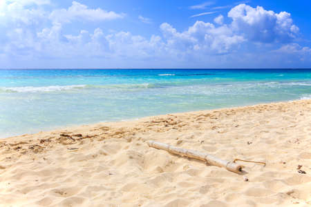 carmen: Caribbean sea scenery in Playacar   Playa Del Carmen  , Mexico