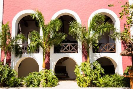 yucatan: Beautiful old Spanish hacienda near Playa del Carmen, Mexico