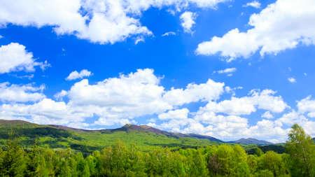 Landscape of Poloniny range in Bieszczady Mountains, Poland photo