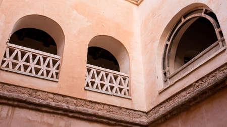 Facade of arabian building in Agadir, Morocco photo