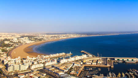 morocco: Panorama of Agadir, Morocco  A view from the mountain  Stock Photo