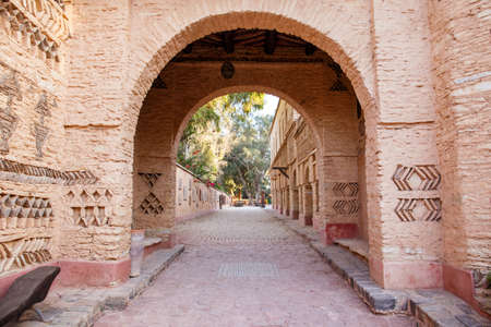 elevation: Architecture details of new Medina village in Agadir, Morocco