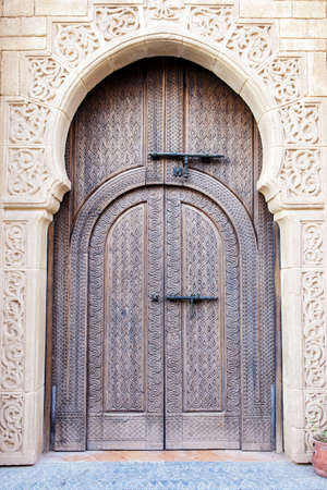 Old Arabian door in Medina village, Morocco photo