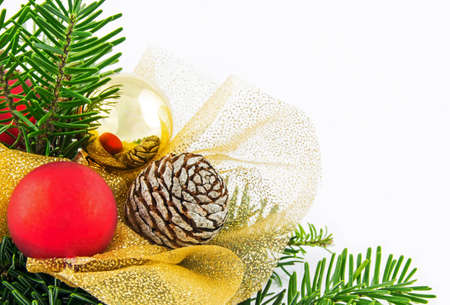 Small Christmas wreath isolated on white background photo