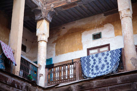Courtyard of old Moroccan house in Marrakesh