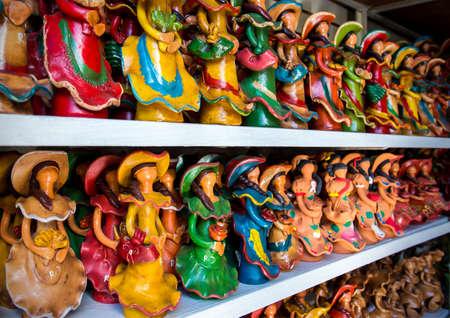 Traditional ceramic souvenirs in Dominican Republic