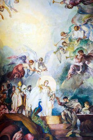 painting wall: Pintura mural en el pante�n nacional, Santo Domingo, Rep�blica Dominicana