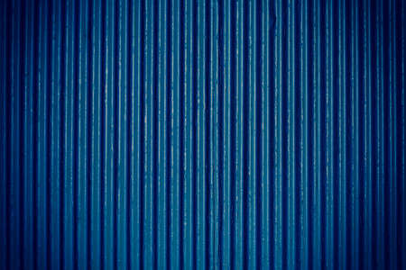 navy blue background: Navy blue corrugated sheet metal for background Stock Photo