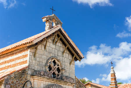 republic dominican: Beautiful small church in Casa de Campo village, Dominican Republic Stock Photo