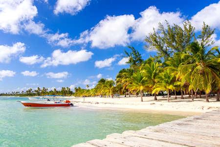 Beautiful caribbean beach on Saona island, Dominican Republic Stock Photo