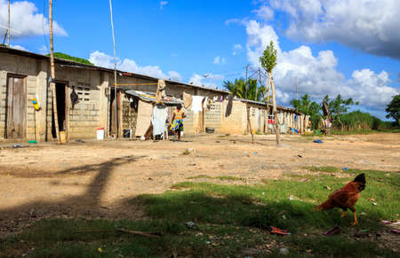 indigence: Haitian refugee camp on sugar cane plantation in Dominican Republic