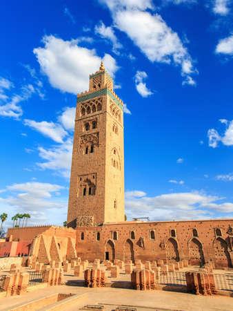 marrakesh: The minaret of the Koutoubia Mosque in Marrakesh city Morocco.