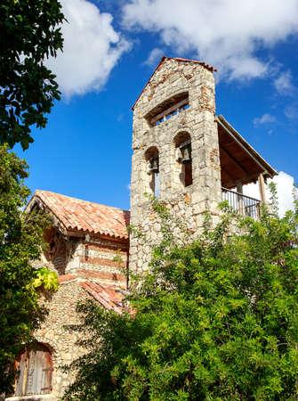 campo: Bell tower in the Casa de Campo village Dominican Republic
