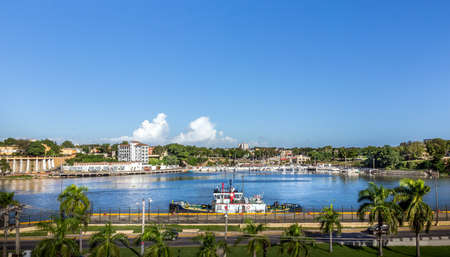 republic dominican: Harbor of Santo Domingo in Dominican Republic