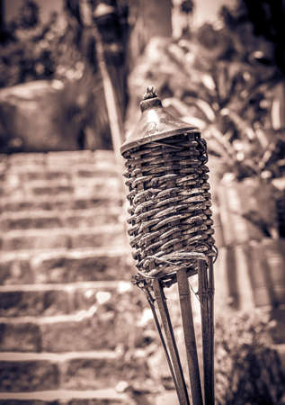 tumulus: Traditional torche on mexican graveyard on Yucatan Stock Photo